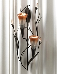 Wall Sconce with Lily Candle Cones