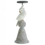 White Cockatoo Candle Holder - 12 inches