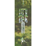 Green Acrylic Hummingbird Windchimes