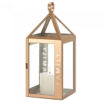 Rose Gold Stainless Steel Family Lantern - 17.5 inches