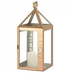 Rose Gold Stainless Steel Family Lantern - 14 inches