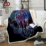 Elephant  Fuzzy Sherpa Back Throw Blanket