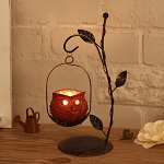 Owl Candlestick Iron Candle Holder