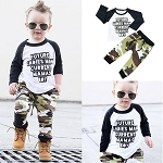 Boys Camouflage Print Pants Set