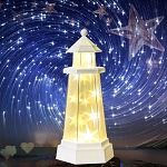 Novelty Remote Control Night Light Tower Style Star Light Desk LED Lamp For Home Decor Gifts Bedroom Holiday Warm White Warm White/White