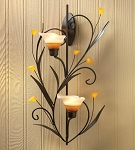 Wall Sconce with Lily Candle Cups