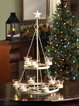 Ivory Christmas Tree Iron Candle Chandelier