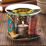 Cowboy Boots and Hat Oil Warmer