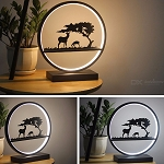 Creative LED Light Modern 18W Metal Deer Lamp For Home Decoration 30 X 33cm
