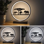 30 X 33cm Modern Decorative Light Metal Elephant LED Lamp For Home Decoration
