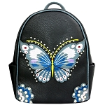 Concealed Carry Butterfly Embroidery Cowgirl Backpack-Black