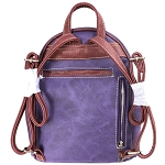 Concealed Carry Butterfly Embroidery Cowgirl Backpack-Purple