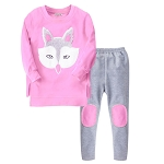 Girls Long Sleeve Fox Cotton 4 - 12