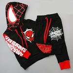 Black 2pcs Spiderman Sets