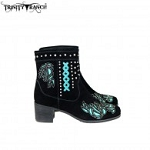 Trinity Ranch Western Leather Suede Booties Studs Collection