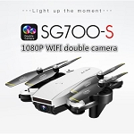 SG700-S Wifi RC Quadcopter with Camera FPV 1080P Foldable Selfie Drone White