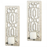Deco Mirrored Wall Sconce Set