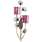 Pink Peacock Double Wall Sconce