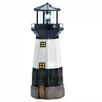 Solar Lighthouse Garden Statue with Rotating Light