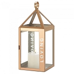 Rose Gold Stainless Steel Loving Lantern - 17.5 inches