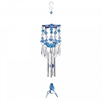 Blue Hummingbird Acrylic and Metal Windchimes