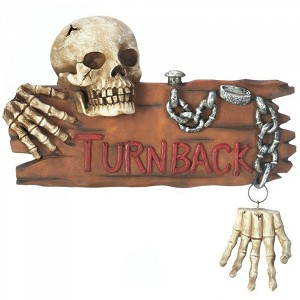 Skeleton Turn Back Door Knocker
